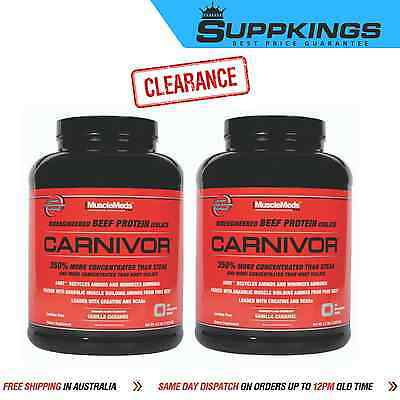 2 x CARNIVOR 4LB HYDROLYSED BEEF PROTEIN ISOLATE BY MUSCLEMEDS
