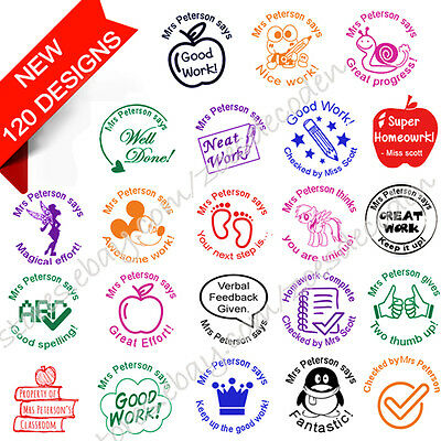 custom name self inking personalized signature school teacher rubber stamp 28mm
