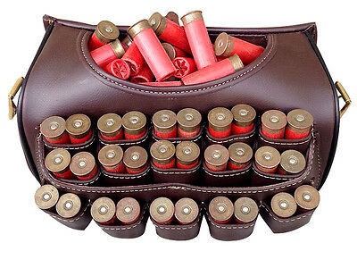 Brand New Leather Cartridge Bag With Beautiful Design Attached Brass Buckles.3P7