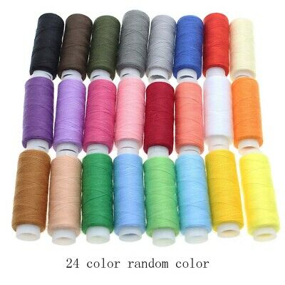 30 SPOOLS 24 Colours Finest Quality Sewing All Purpose 100% Cotton Thread Reels