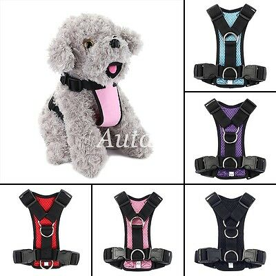Dog Puppy Pet Adjustable Harness Soft Mesh  Polyester Puppy Lead Leash Vest Clip