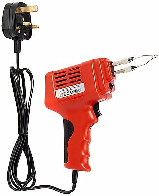 Soldering Iron 175W Electric Electrical Solder Gun Kit 240V - 2 Spare Tips