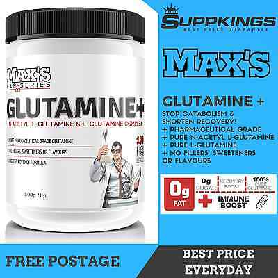 Max's Lab Series Pure Glutamine + Powder // Recovery // Lean Muscle Growth