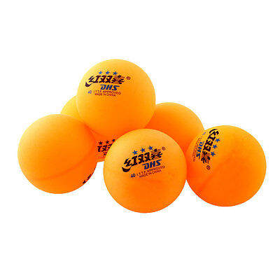 6Pcs 3 stars DHS 40MM Olympic Table Tennis Orange Ping Pong Balls Durable YELLOW