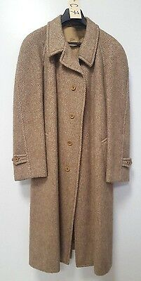 Cappotto Lungo Beige In Lana  Taglia 52 Vintage Made In Italy