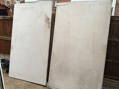Spray booth doors wooden 4ft x 7ft x 2 with hinges and catch