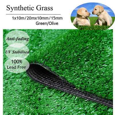 10/20 SQM Synthetic Turf Artificial Grass Plastic Plant Lawn Flooring 10/15mm AU