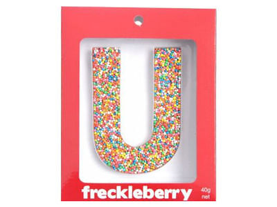 Letter U Chocolate Freckle Letter New Great Unique Gift Present Birthday