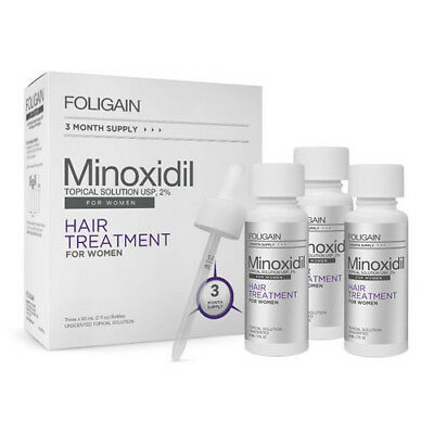 FOLIGAIN.P2® 2% MINOXIDIL TOPICAL SOLUTION for Hair Regrowth - 3 Month Supply