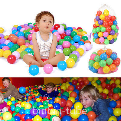 50/100Pcs Colorful Ocean Balls Toys Safety Plastic Baby Kids Swim Pit Pool Toys