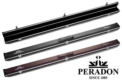 3/4 Halo Snooker Cue case by Peradon - Slim Aluminium in Black or Red Vein