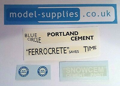 Dinky 419 533 933 Leyland Portland Cement Reproduction Waterslide Transfers Set