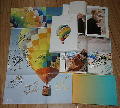 Signed BTS Bangtan Boys Young Forever CD+Poster Hand Autograph Day ver. Official