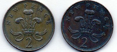 Rare 1977/1978 New Pence 2P Coins
