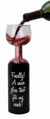 Ultimate Wine Bottle Glass Holds a Whole Bottle (750ml) - Giant Wine Glass!