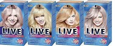Schwarzkopf Hair Color LIVE Lightener + Twist  Choose From 4 Assorted Shades