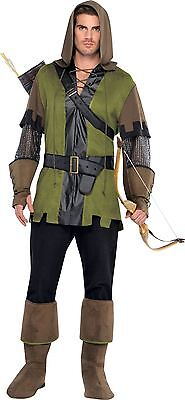 Mens Robin Hood Prince Of Thieves Fancy Dress Costume Adults Outfit