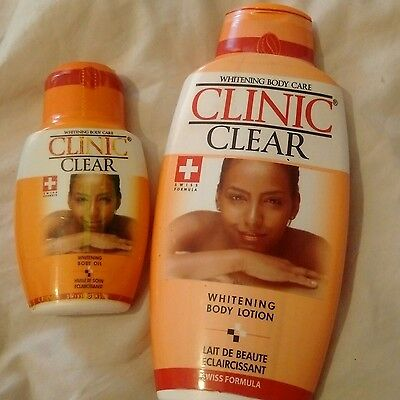 Clinic Clear Whitening Body Lotion 500ml and 125ml oil