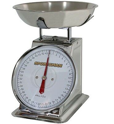 Sportsman Series 44lb Stainless Steel Dial Food Scale