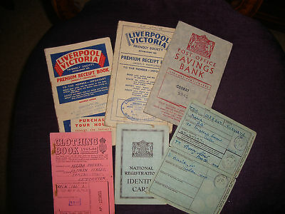 Identity Cards Clothing Ration Book Savings Job Lot Etc