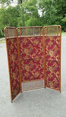 Antique Victorian Oak Folding Screen Room Divider Aesthetic Design