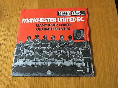 "Manchester United Fc - Manchester United / Old Trafford Blues - 1976 7"" P/s Ex"