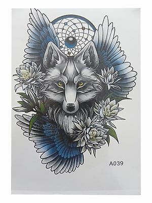 3D Body Art Temporary Tattoo EXTRA LARGE Sheet 20,5 x 14,5cm
