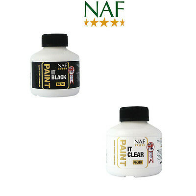 NAF Paint It Hoof Polish 250ml - Black Or Clear - Showing/Grooming/Horse/Pony