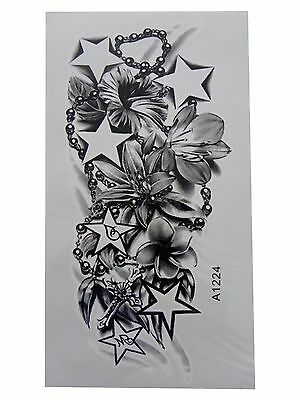 3D Body Art Temporary Tattoo LARGE Sheet 22x12cm