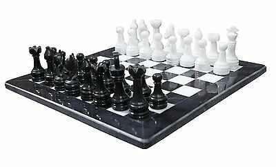 Black and White Marble Chess Game Handmade Marble Chess Set