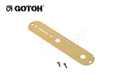 Gotoh CP10 Telecaster® style guitar control plate gold with mounting screws