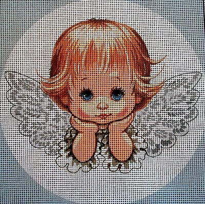 """Needlepoint Kit Gobelin Tapestry""""Sweet Angel"""" embroidery printed canvas 050"""