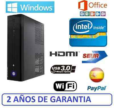 Ordenador Sobremesa Intel PC 4GB RAM 500gb HDMI 2gb, USB 3.0, wifi, WINDOWS
