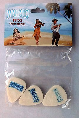 Mahalo FP32 Felt picks - pack of 3 for ukelele banjo or guitar
