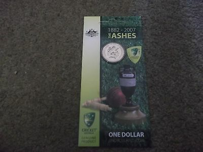 The Ashes 1882-2007 England Australia One Dollar Uncirculated Coin Royal Mint