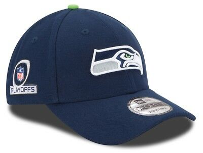 Seattle Seahawks New Era 9Forty NFL The League Playoff Patch Adjustable Hat a1c2b1491