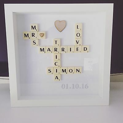 personalised scrabble picture Any Occasion Wedding Anniversary