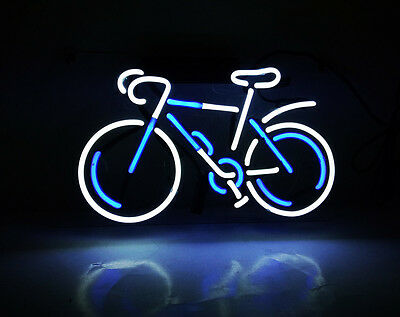 TN123BW Road Track Bike Bicycle Racking Home Room Lamp Real Neon Light Sign 12x7