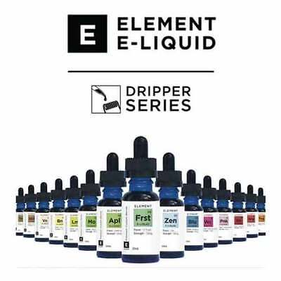 20ml 3mg ELEMENT premium ee liquid juice Many Flavours - Any 2 Bottles for £14