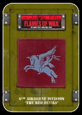 """Flames Of War Dice & Marker Tin TD001 6th Airborne """"the Red Devils"""" New Sealed"""
