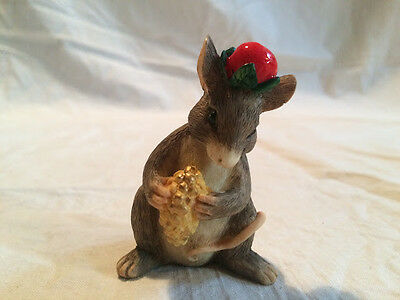 Silvestri Charming Tails Christmas Mouse Great condition!