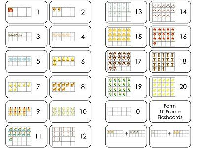 TRANSPORTATION TEN FRAME Flashcards. Preschool Laminated Counting ...