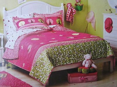 NEW Circo Ladybug Collection Quilt and Shams Set Pink / Full Queen 3 pieces