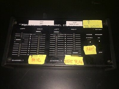Radio Shack Realistic 4 Channel Stereo Microphone Mixer 32-1105 *No cords