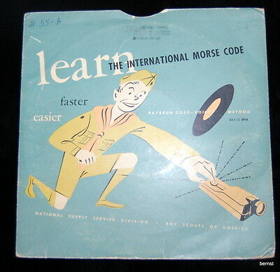 Vintage Boy Scout - 1951 Morse Code Instruction Record
