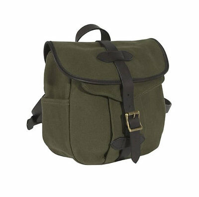Filson Mens Small Field Bag 70230 OT Leather and Rugged Twill Otter Green