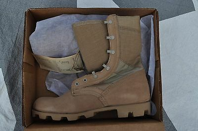 Wellco Desert Combat Boots Size Men's 9.5 Wide (UK 8.5R) USGI Gore-Tex Lined NEW