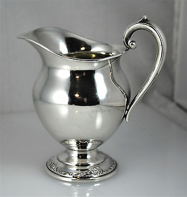 #6747- Beautiful - Sterling Silver - Oneida Heirloom Damask Rose - Cream Pitcher