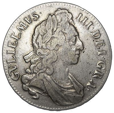 1695 Crown - William Iii British Silver Coin - Nice