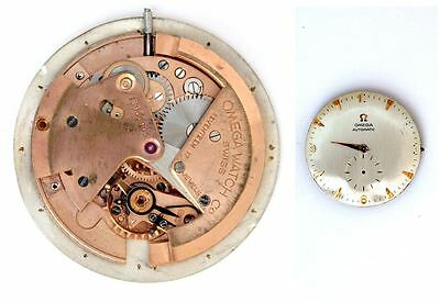 OMEGA 344 original automatic (bumper) watch movement working  (4615)